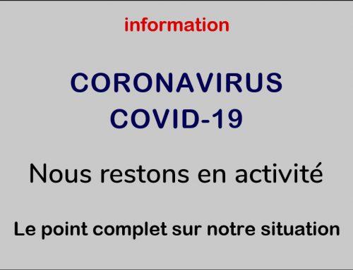 Information CORONAVIRUS COVID-19 BAUDAT – INTERCABLE reste en activité.