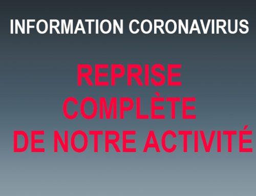 Information Coronavirus: Une reprise presque comme avant!